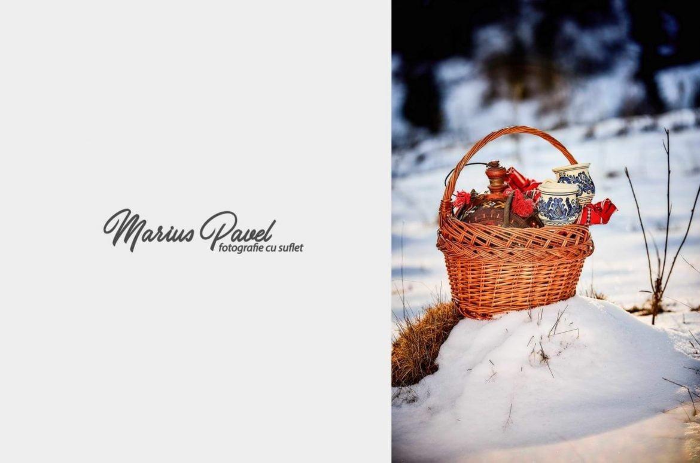 Sedinta foto in costume populare iarna