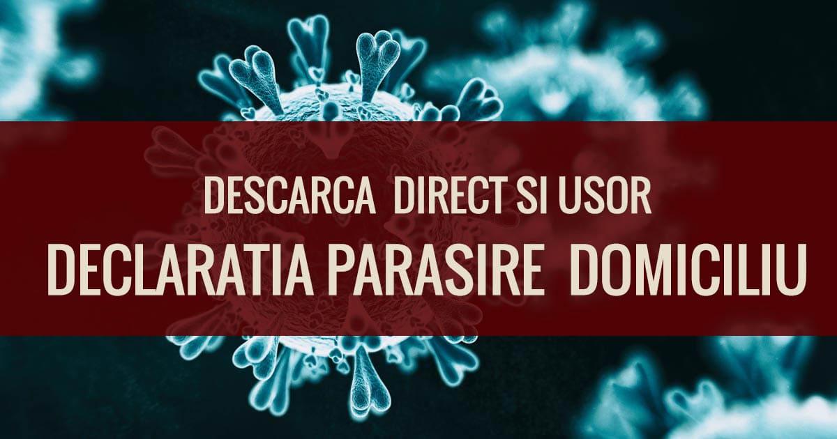 Declaratie Iesire Din Casa, Parasire De Domiciliu In Timpul Crizei De Cornonavirus Covid 19