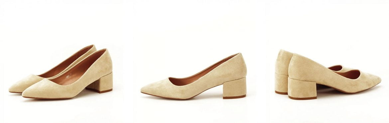 Pantofi De Catifea Cu Toc Mic