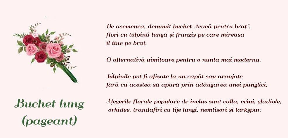Tip Buchet De Mireasa Buchet Lung
